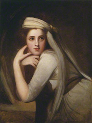 A portrait of Emma, Lady Hamilton, courtesy of the  UK National Portrait Gallery