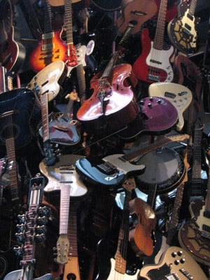 The guitar sculpture at the EMP (Experience Music Project) Seattle.