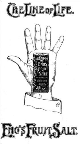 Eno's Fruit Salt advert.