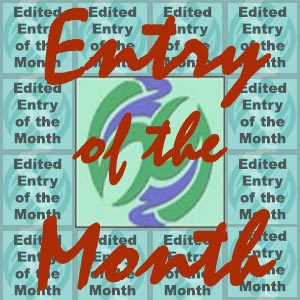 The Entry of the Month banner