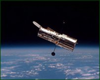The Hubble space telescope, searching for extrasolar planets.