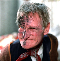 Wilfrid Bramble - a dirty old man with soot on his face - not the best fake tan substitute around.
