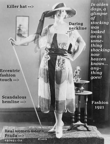 A fashion model of 1921.