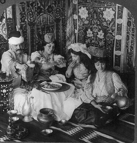 Feasting in the harem.