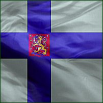 A Finnish State flag, used by Finnish government agencies.