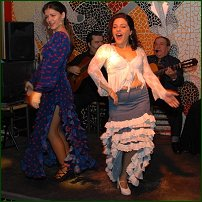 Flamenco dancers in Valencia.