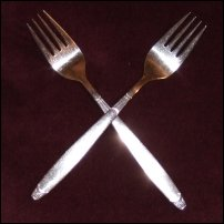 Two forks.