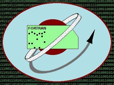 Artwork depicting the Fortran computer language.