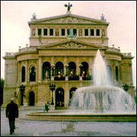 The Frankfurt Opera House.