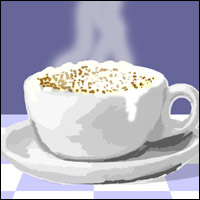 An oversized coffee cup - just one of the items associated with the TV show 'Friends'.