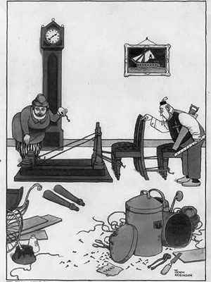 A Heath Robinson cartoon courtesy US Library of Congress.