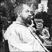 Actor Leo McKern as Galileo in the 1964 BBC production of Bertolt Brecht's play 'The Life of Galileo'.