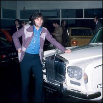 George Best and a white Rolls Royce.