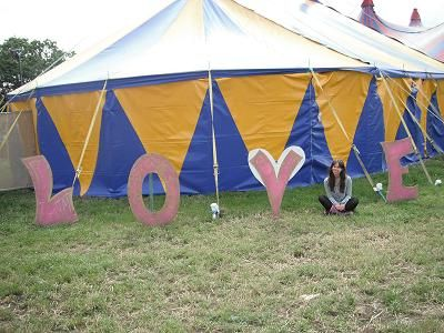 The LOVE tent.