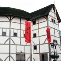 The Globe Theatre on Bankside, London.