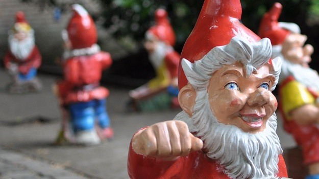 Close up of some Garden Gnomes, courtesy of debabrata.