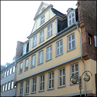 The Goethehaus in Frankfurt, Germany, where Johann Wolfgang Goethe was born in 1749.