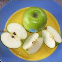 Some Granny Smith apples.