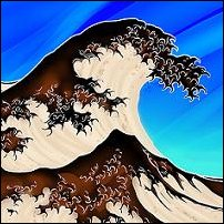 A great beer wave, inspired by Japanese artist Katsushiga Hokusai.