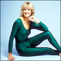 Fitness expert Diana Moran, aka The Green Goddess, who found fame on BBC One's Breakfast Time in the 1980s.