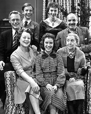 The cast of BBC Television's The Grove Family in 1955