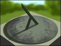 A sundial.