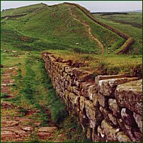 A section of Hadrian's Wall, the product of Roman surveyors.