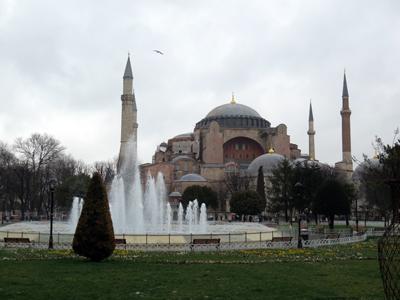 The Hagia Sophia in Istanbul.