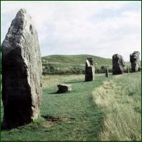 The Avebury stone circle.