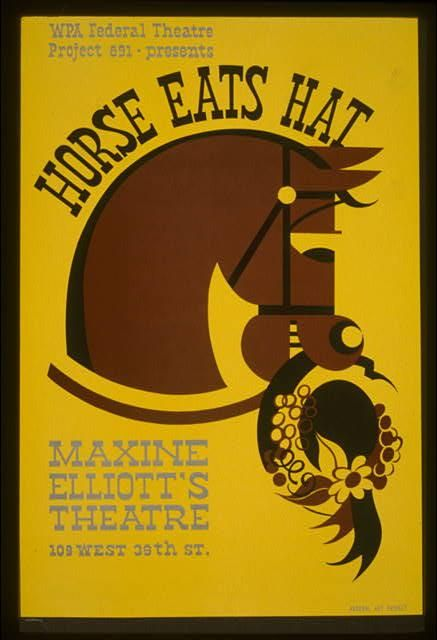 A poster for Horse Eats Hat.