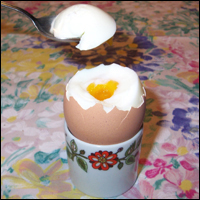 A well-made boiled egg.