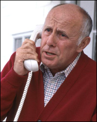 Famous moaner Victor Meldrew makes a phone call to complain.