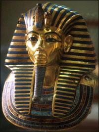 Tutankhamun death mask, Cairo museum.
