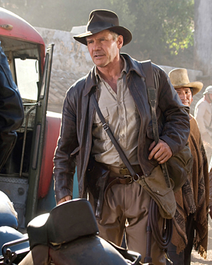 Harrison Ford as Indiana Jones in a scene from 'Indiana Jones and the Kingdom of the Crystal Skull'. Picture: David James/Lucasfilm Ltd