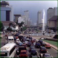 The centre of Jakarta.