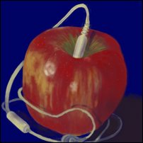 An artist's impression of what the Apple iPod *might* have looked like.