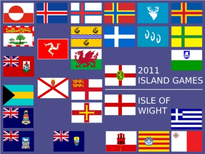 A composite image of the island flags.