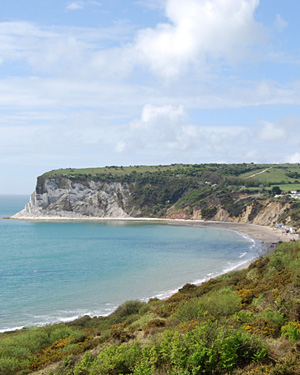 Coastal path at Whitecliff Bay, Isle of Wight