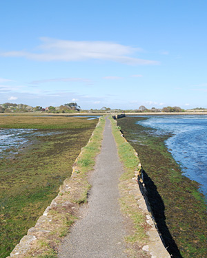 Coastal path linking Cowes to Bembridge in the Isle of Wight