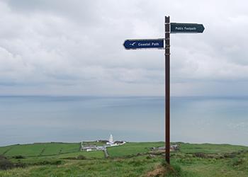 Isle of Wight Coastal Path Sign