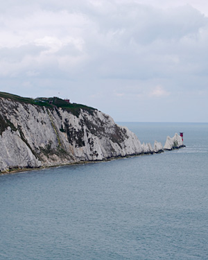 The Needles, Isle of Wight. You can just make out the fort