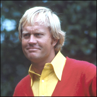 The legendary Jack Nicklaus, forever known as 'The Golden Bear'.