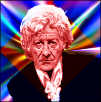 Actor Jon Pertwee as the third 'Doctor Who'. Graphic by Jimster.
