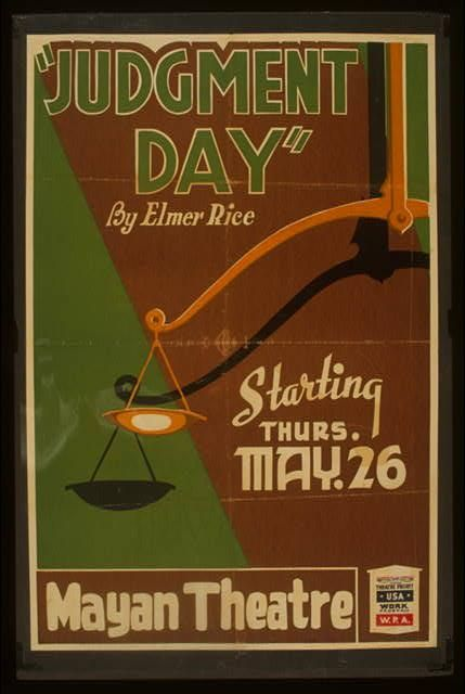 Poster for Judgment Day at the Mayan Theatre.
