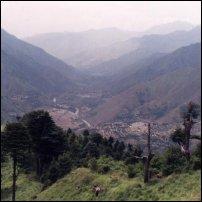 The India-Pakistan border in Kashmir.