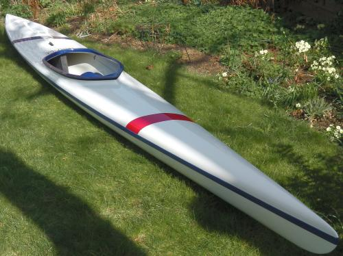 A white kayak.