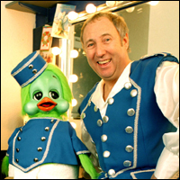 Keith Harris and Orville, starring in a production of Cinderella.