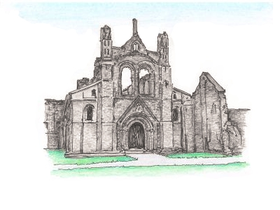 Kirkstall Abbey, West Yorkshire, UK.
