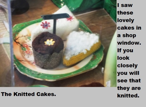 Knitted cakes.