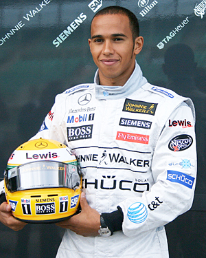 British Formula One champion Lewis Hamilton, pictured in 2006